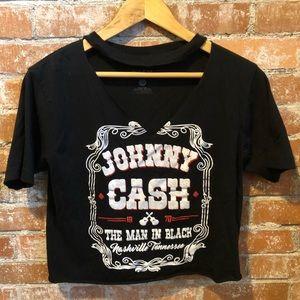 Tops - Johnny Cash Graphic Choker Tee